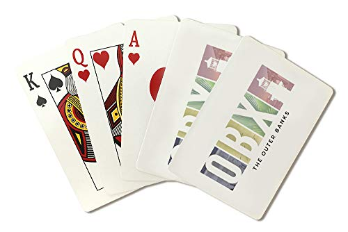 Outer Banks, North Carolina - Cape Hatteras Lighthouse - OBX (Playing Card Deck - 52 Card Poker Size with Jokers)