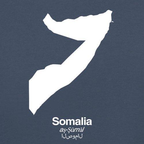Somalia / Bundesrepublik Somalia Silhouette - Herren T-Shirt - Navy - M