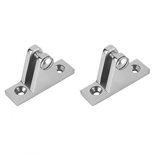 LEANINGTECH 2 PCS Marine Boat Deck Hinge Mount Bimini Top Fitting Hardware 316 Stainless Steel Fitting Deck Hardware