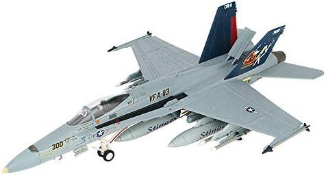 軍用機モデル、72分の1スケール米国のF / A-18ホーネット攻撃ファイター合金モデル、子供のおもちゃやギフト、11.2Inc
