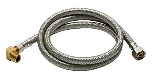 5' Washer Fill Hose - Pro TJ10SS60DW Stainless Steel Braided Dishwasher Fill Hose, 5'