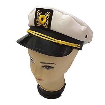 Gorra capitán hombres mujeres negro blanco - Disfraz para Adultos y Niños -  Perfecto para Carnaval - Talla única (C)  Amazon.es  Deportes y aire libre 6a451d9a879