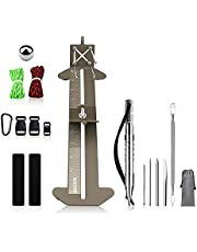 """WILDAIR Paracord Bracelet Jig Kit with Marlin Spike Paracord FID Set 6 Lacing Needles/Fids for Paracord or Leather Work Paracord Tool Adjustable Length 4"""" to 13"""" Paracord Jig Bracelet Maker"""