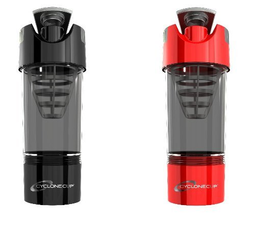 Cyclone Cup Shaker Bottle 20oz - Set of 2 - Black and Red