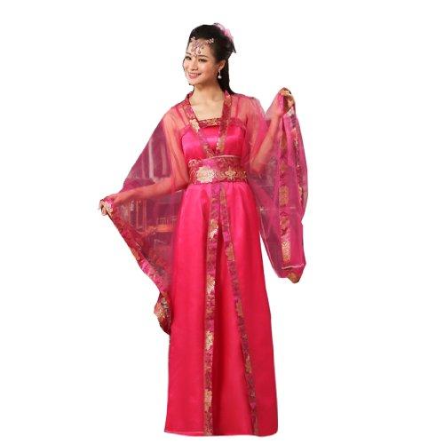 (Bysun Women Ancient Royal Dress Performance Cosplay Rose)