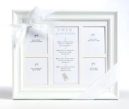 The Grandparent Gift Co. 8x10 Twins Milestones Frame