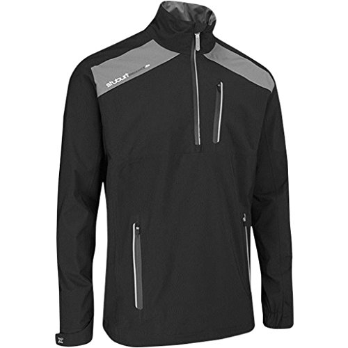 Stuburt Golf 2017 Mens Endurance Lite Waterproof Half Zip WindProof Pullover Black XL by Stuburt