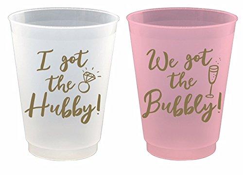 Reusable Frost Flex Cups I Got the Hubby We Got the Bubbly- 8 Piece Set, 16oz