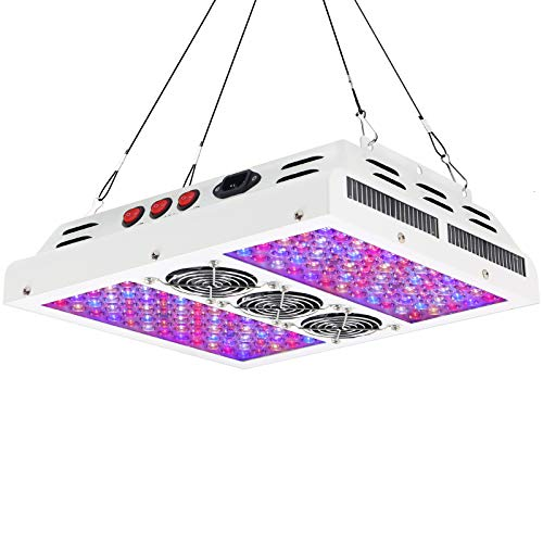 VIPARSPECTRA PAR600 600W 12-Band LED Grow Light - 3-Switches Full Spectrum for Indoor Plants Veg and Flower