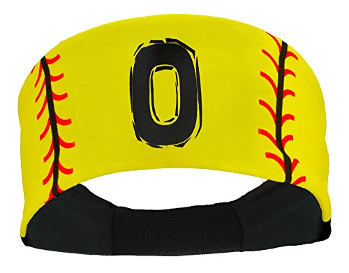 MadSportsStuff Player ID Softball Stitch Headband (Yellow, 0)