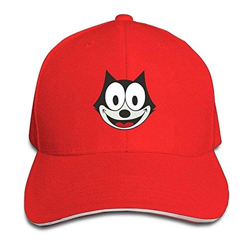 WHROOER Felix The Cat Cartoon Cat Jack Mercer Visor Hats Match Sandwich Cap Hats