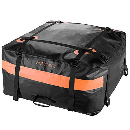 (BOLTLINK Car Roof Top Cargo Carrier Bag, Made with 100% Waterproof Material, Easy Install for Most Car,Jeep, SUV with Racks)