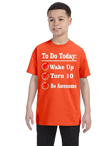Allntrends Kids Birthday Shirt Turn 10 Ten Year Old Gift 10th Funny Bday Outfit XL