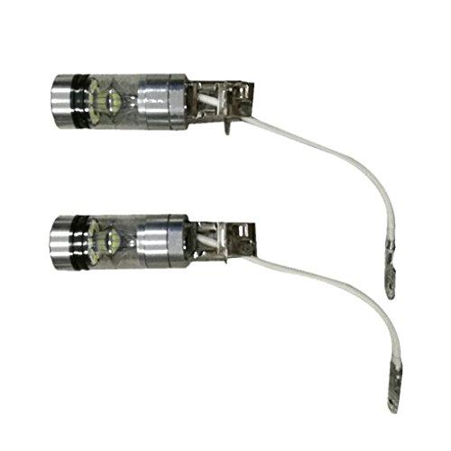 100W [H3] White LED Fog DRL Daytime Driving Light Lamp Bulbs - 7