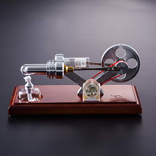 At27clekca QX-FD-03 Hot Air Stirling Engine Power Generator Motor Model Science Educational Lamp Toy Electricity Generator by At27clekca (Image #3)