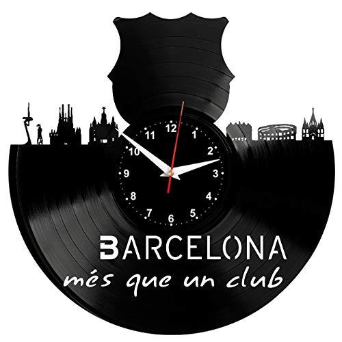 EVEVO Barcelona Reloj de Pared Vinilo Tocadiscos Retro de ...