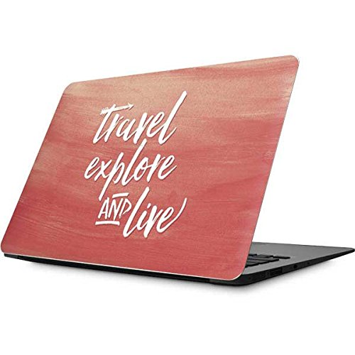 Skinit Illustration Art MacBook Air 13.3 (2010-2016) Skin - Travel Explore and Live Design - Ultra Thin, Lightweight Vinyl Decal Protection