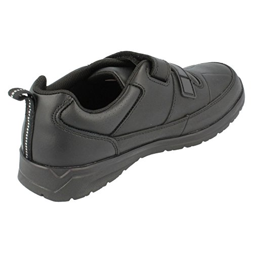 Clarks Gloforms ReflectAce Jnr Boys School Shoes in Black Leather Black Leather