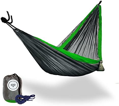 B.O.S. Double and Single Camping Hammocks – Ultralight Portable Nylon Parachute Multifunctional Hammocks