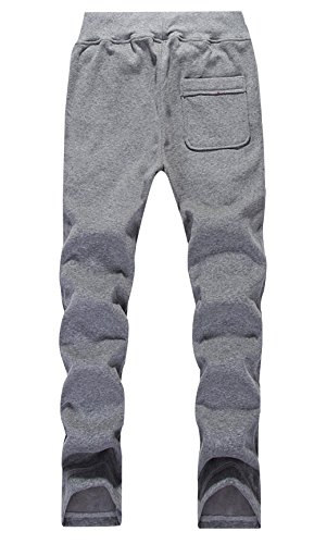 OS Men's Casual Pure Color Outdoor Sport Long Pants Trousers3XL Grey