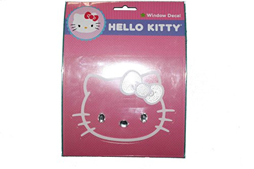 Sanrio Hello Kitty Bling white window decal