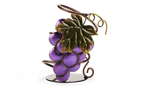 Gift Craft Metal Grape Wine Bottle Holder, (Metal Grapes Wine Bottle Holder)