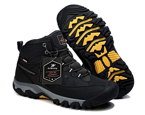 AX BOXING Bottes Homme Hiver Bottines Randonnée Trekking Chaudes Fourrées Chaussures Taille 41-46 2