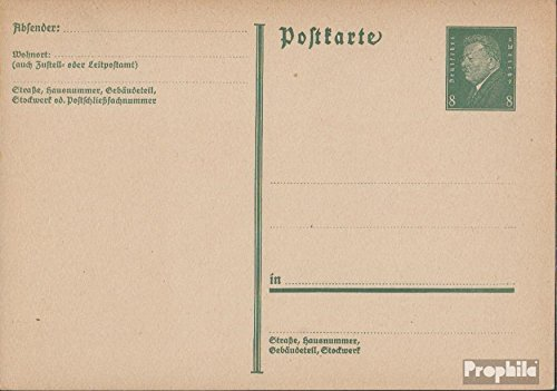 German Empire P195I Official Postcard 1931 Ebert (documents philatelic Covers for Collectors)