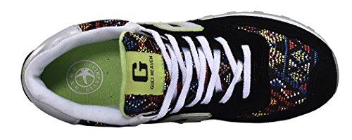 Guciheaven Men/Women 2015 Spring New Style Simple Couple Models Sneakers Sports Shoes(8 D(M)US/9 B(M)US, Black)