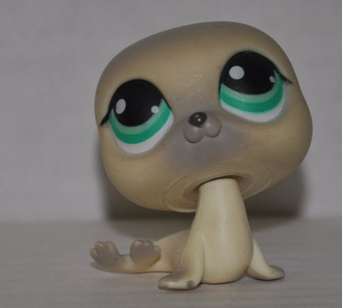 Littlest Pet Shop Seal - Seal #342 (Gray, blue eyes) - Littlest Pet Shop (Retired) Collector Toy - LPS Collectible Replacement Figure - Loose (OOP Out of Package & Print)