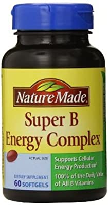 Nature Made Super B Complex Full Strength Softgel, 60 Count