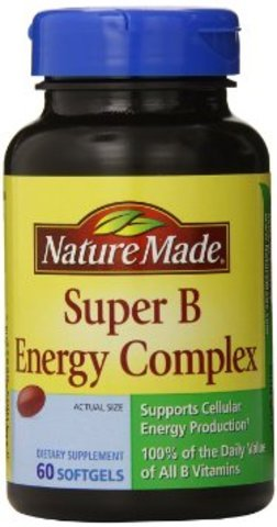 Nature Made Super B Complex Full Strength Softgel, 60 Count (Pack of 5) , Made-e8d7 by Nature Made