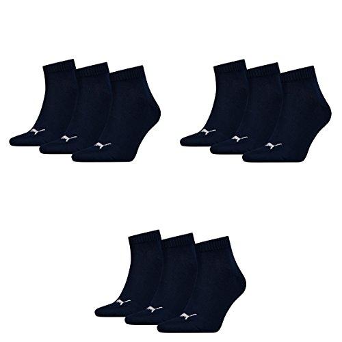 3 pair Puma Sport Socken Short Crew Tennis Socks Gr. 35 - 49 Unisex 321 - navy