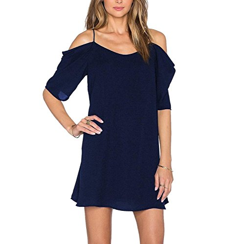 Oscuro Vestido Azul para HIMONE mujer YwITq
