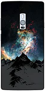 Snoogg Aurora Galaxy Designer Protective Back Case Cover For One Plus Two