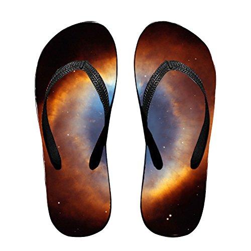 (Helix Nebula Flip Flops Funny Sandy Flat Thong Sandals Slipper Mat for Women)