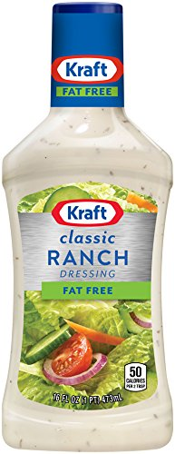 Kraft, Ranch, Fat Free Dressing, 16oz Bottle (Pack of 3)