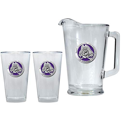 Heritage Metalwork ECU East Carolina University Pitcher and 2 Pint Glass Set Beer Set