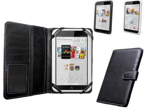 "Navitech Black Faux Leather Case Cover Sleeve Compatible with The Nook HD 7"" inch ereader Tablet"