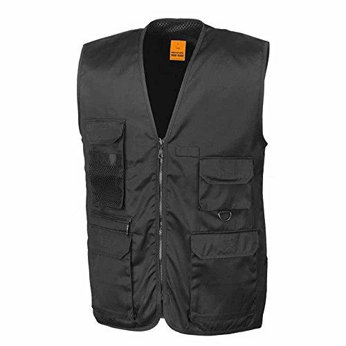 RESULT - gilet reporter multipoches - veste légère sans manches BODYWARMER - réf R045X - noir - mixte homme / femme