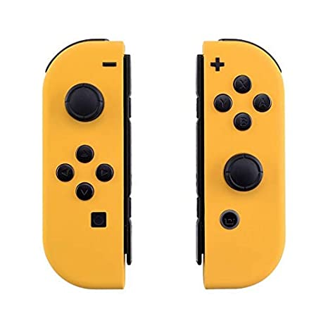 eXtremeRate Soft Touch Grip Caution Yellow JoyCon Handheld Controller  Housing with Full Set Buttons, DIY Replacement Shell Case for Nintendo  Switch