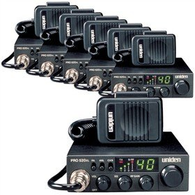 Uniden PRO520XL 40-Channel CB Radio, Mobile / Base Scanner, 2-Way CB radio (6-Pack)