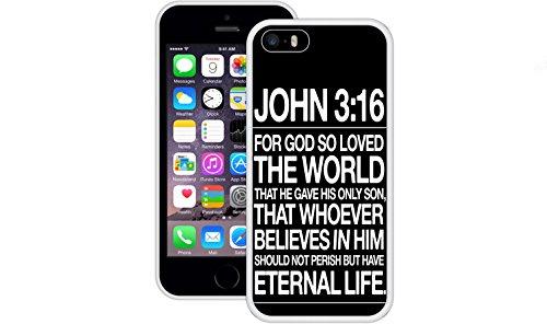 Johannes 3:16 | Christlich | Handgefertigt | iPhone 5 5s SE | Weiß TPU Hülle