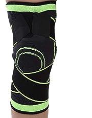 Kniebrace, beschermt meniscus, ligamenten en patella tijdens sport en vrije tijd.Knieorthese geschikt voor vrouwen, mannen, elastisch & ademend (M-groen)