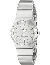 Omega Womens 12310246002001 Constellation Analog Display Swiss Quartz Silver Watch