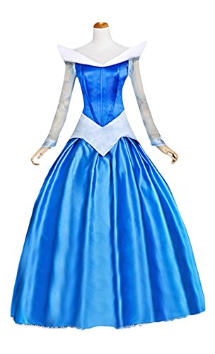 Princess Costume For Women Adult Halloween Party Deluxe Palace Queen Prom Dress (XL)