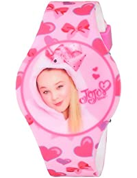 Girl's Quartz Plastic and Rubber Casual Watch, Color:Pink (Model: joj4011)