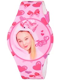 Nickelodeon Girl's Quartz Plastic and Rubber Casual Watch, Color:Pink (Model: JOJ4011)