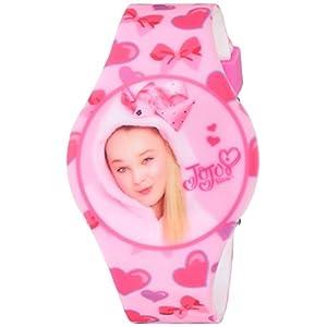 Jojo Siwa Girl's Quartz Plastic and Rubber Casual Watch, Color:Pink (Model: joj4011)