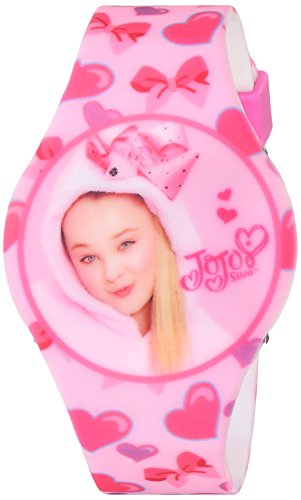 Jojo Siwa Girl's Quartz Plastic and Rubber Casual Watch, Color:Pink (Model: joj4011)